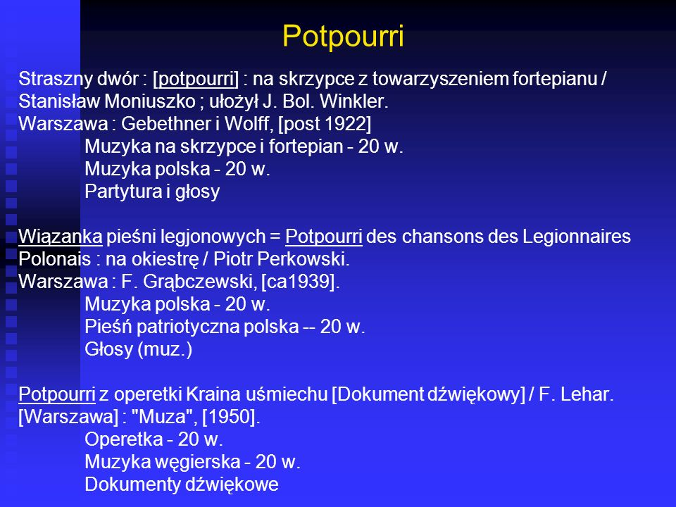 Potpourri Straszny dwór : [potpourri] : na skrzypce z towarzyszeniem fortepianu / Stanisław Moniuszko ; ułożył J. Bol. Winkler.